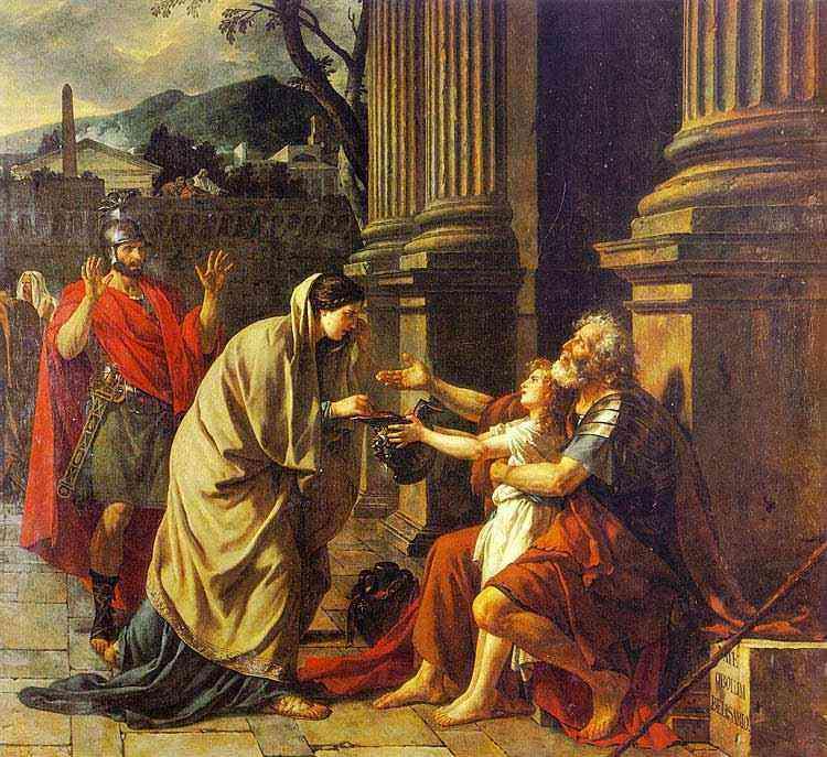 Jacques-Louis David - Belisário pedindo esmolas