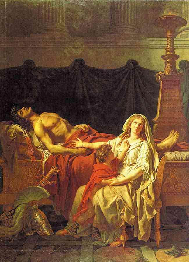 Jacques-Louis David - Andrômaca chorando Heitor