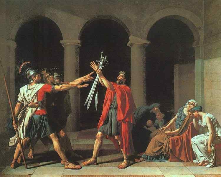 Jacques-Louis David - O juramento dos Horácios