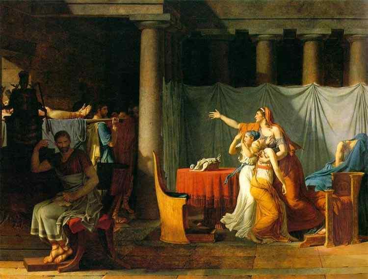 Jacques-Louis David - Letores retornando para Brutus os corpos mortos de seus filhos