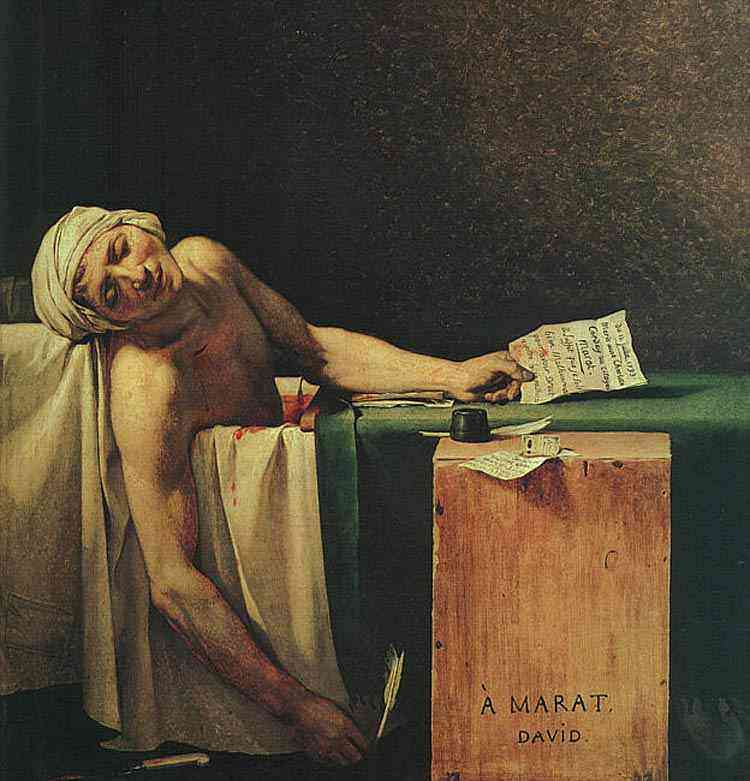 Jacques-Louis David - A morte de Marat