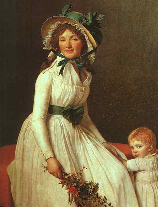Jacques-Louis David - Retrato de Madame Seriziat