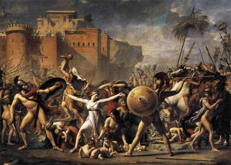 Jacques-Louis David - O rapto das Sabinas