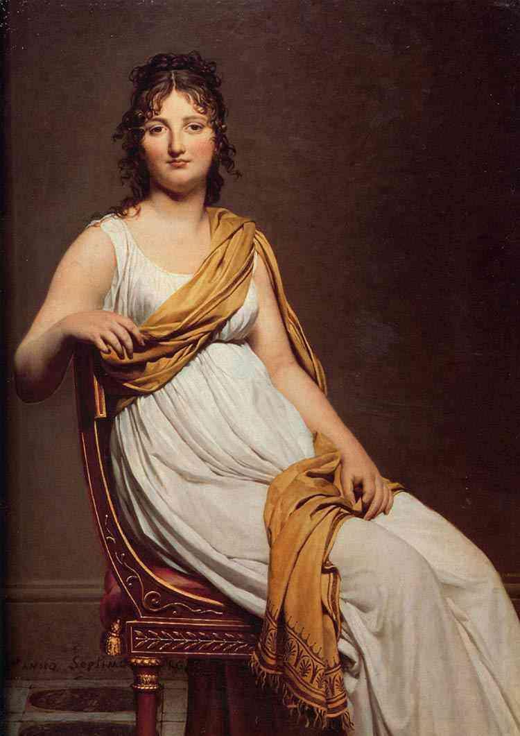 Jacques-Louis David - Retrato de Henriette de Verninac