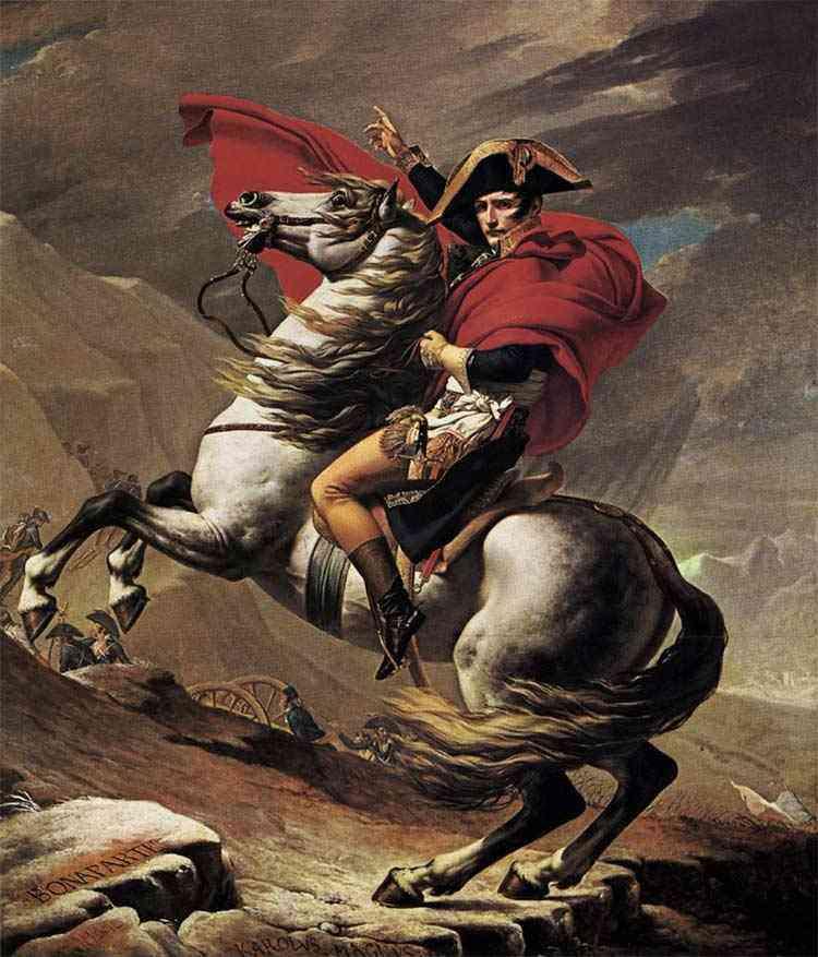 Jacques-Louis David - Bonaparte em São Bernardo