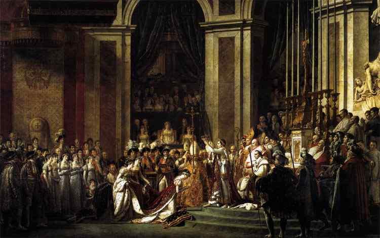 Jacques-Louis David - A Consagração do Imperador napoleão I e a Coroação da Imperatriz Josefina