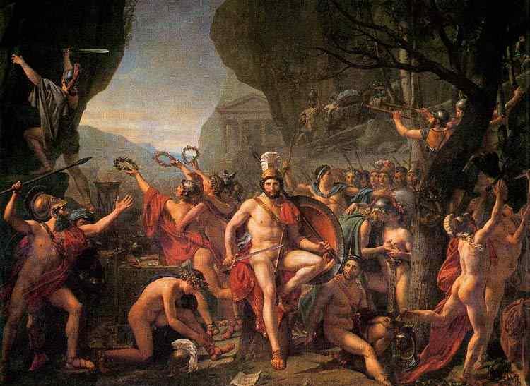 Jacques-Louis David - Leônidas nas Termópilas