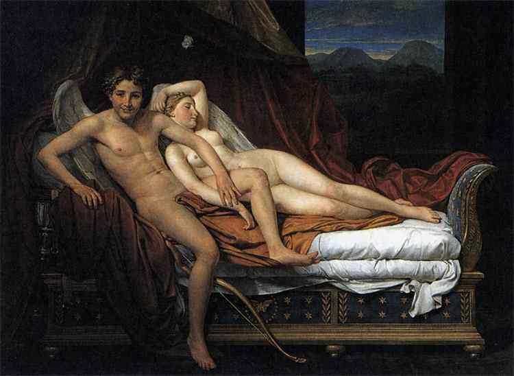 Jacques-Louis David - Cupido e Psiquê