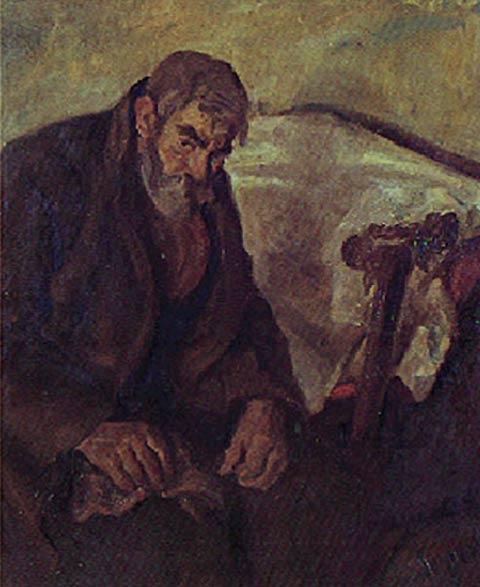 Lasar Segall - Ancião com muleta