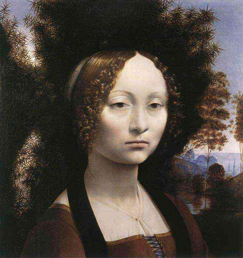 Leonardo da Vinci - Retrato de Ginevra de