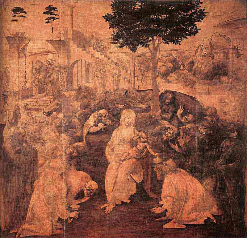 Leonardo da Vinci - Adoração dos Magos