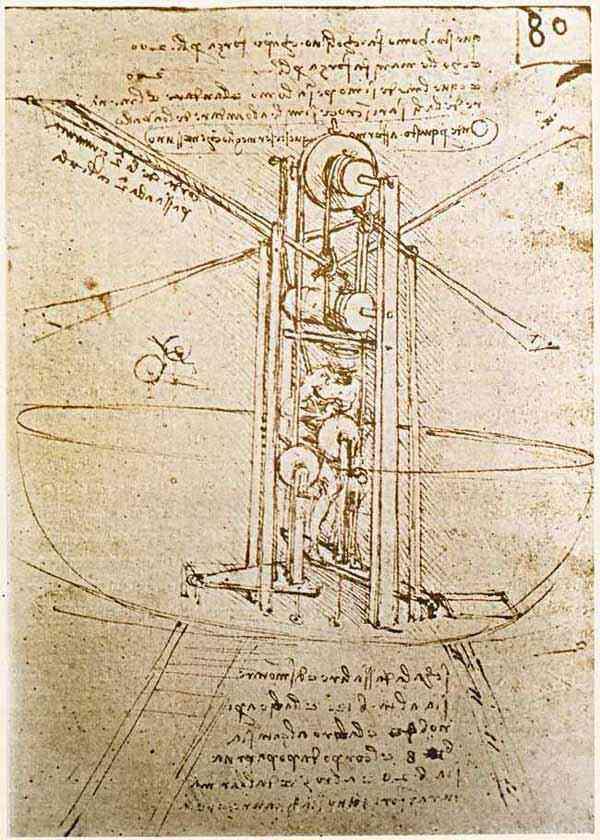 Leonardo da Vinci - Estudos de máquina voadora