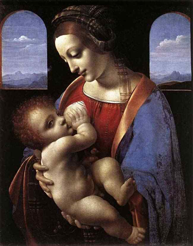 Leonardo da Vinci - Madonna amamentando