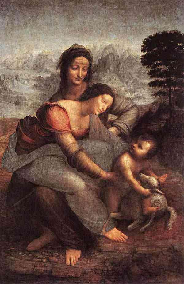 Leonardo da Vinci - A Virgem e criança com Santa Ana