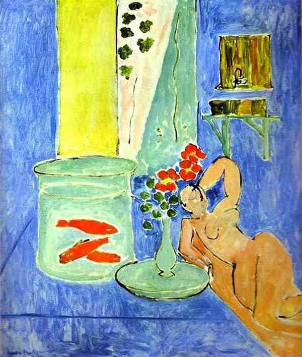 Henri Matisse - Peixe dourado e escultura
