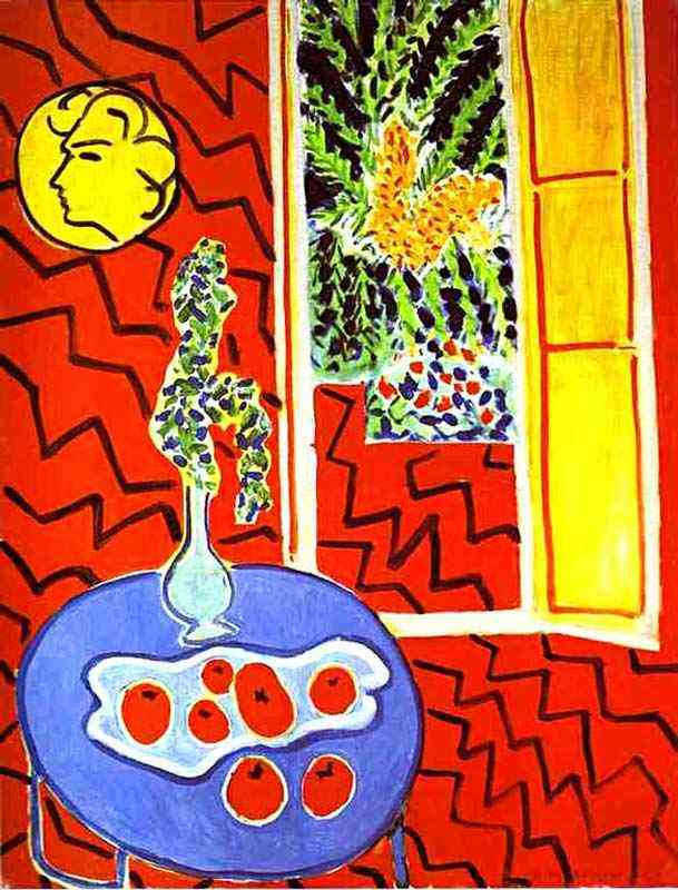 Henri Matisse - Natureza morta, interior vermelho