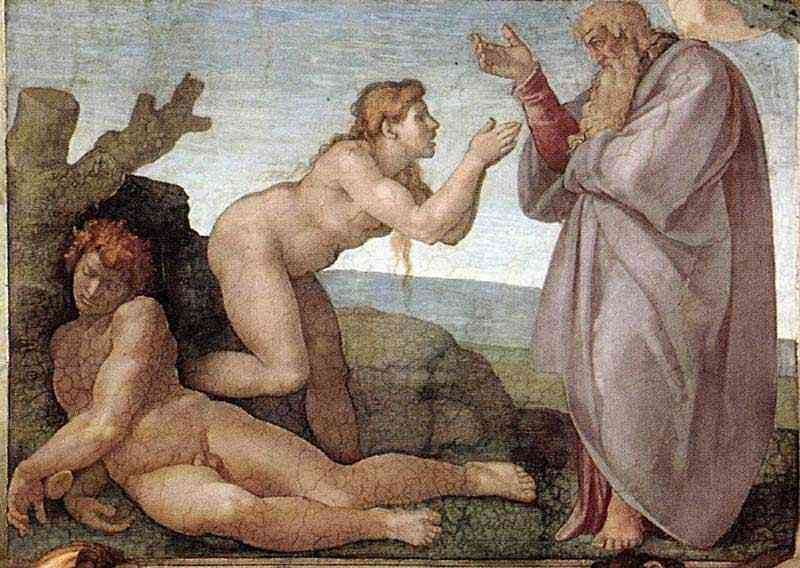 Michelangelo di Ludovico Buonarroti Simoni - Criação de Eva