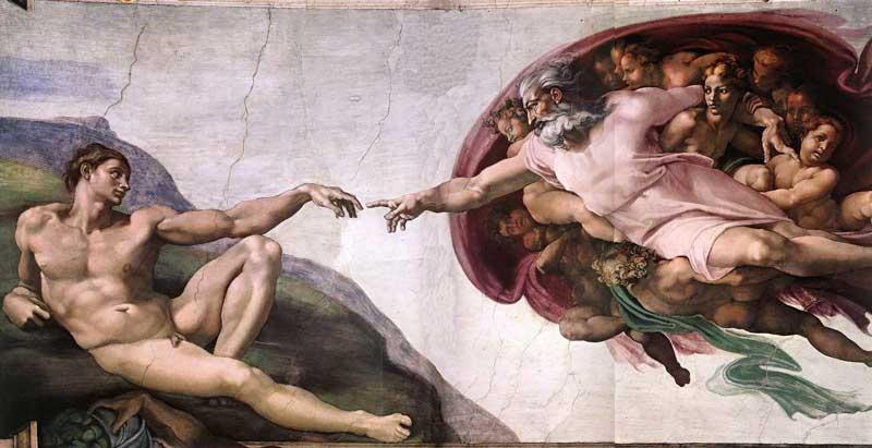 Michelangelo di Ludovico Buonarroti Simoni - Criação de Adão