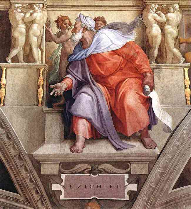 Michelangelo di Ludovico Buonarroti Simoni - Ezequiel