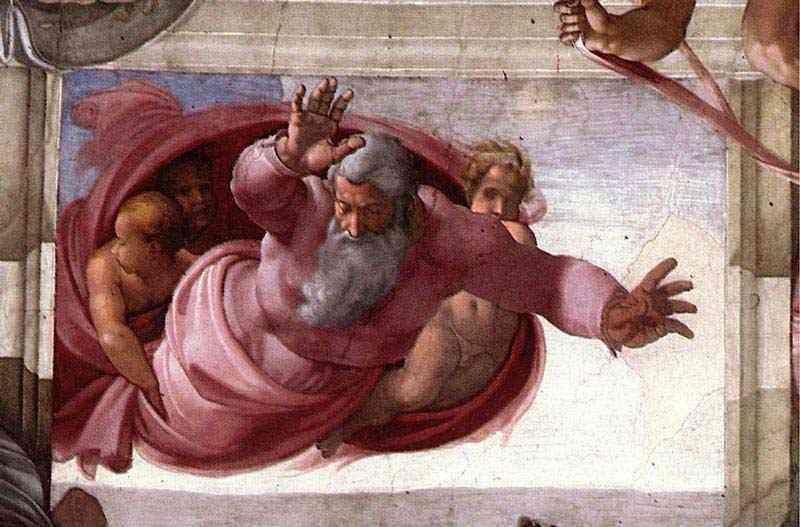 Michelangelo di Ludovico Buonarroti Simoni - Separação da terra e das águas