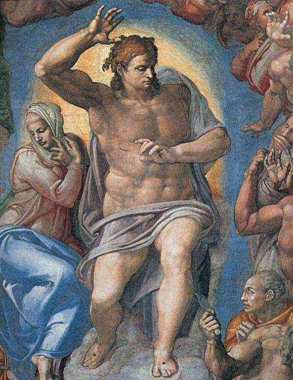 Michelangelo di Ludovico Buonarroti Simoni - O último julgamento: Cristo, o juiz