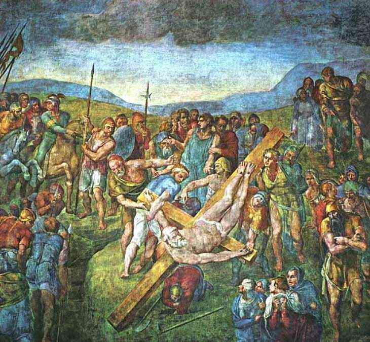 Michelangelo di Ludovico Buonarroti Simoni - Martítio de São Pedro