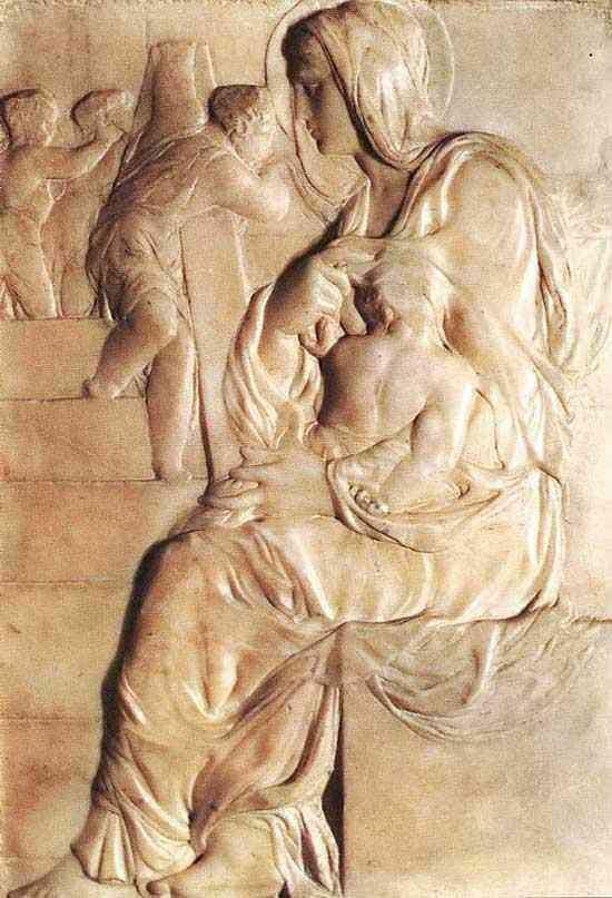 Michelangelo di Ludovico Buonarroti Simoni - Madona das escadas