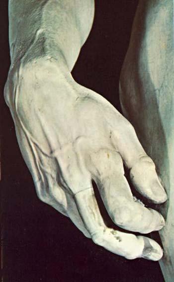 Michelangelo di Ludovico Buonarroti Simoni - David - detalhe (escultura)