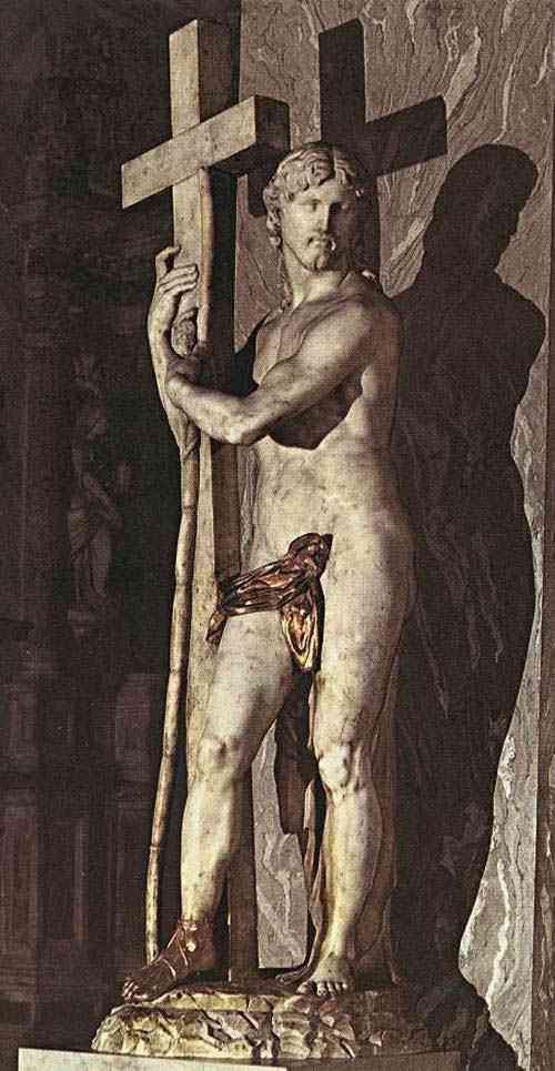 Michelangelo di Ludovico Buonarroti Simoni - Cristo carregando a cruz (escultura)