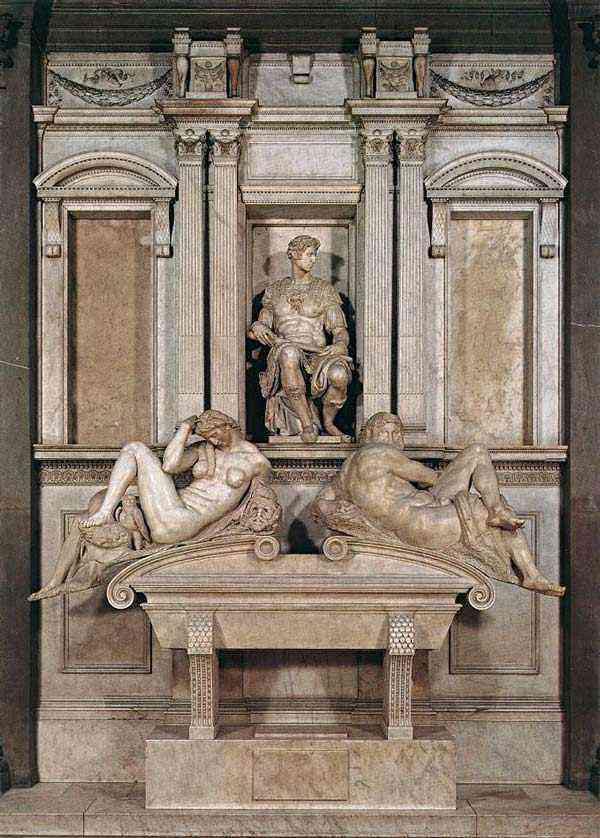 Michelangelo di Ludovico Buonarroti Simoni - Túmulo  de Giuliano de Medici (escultura)