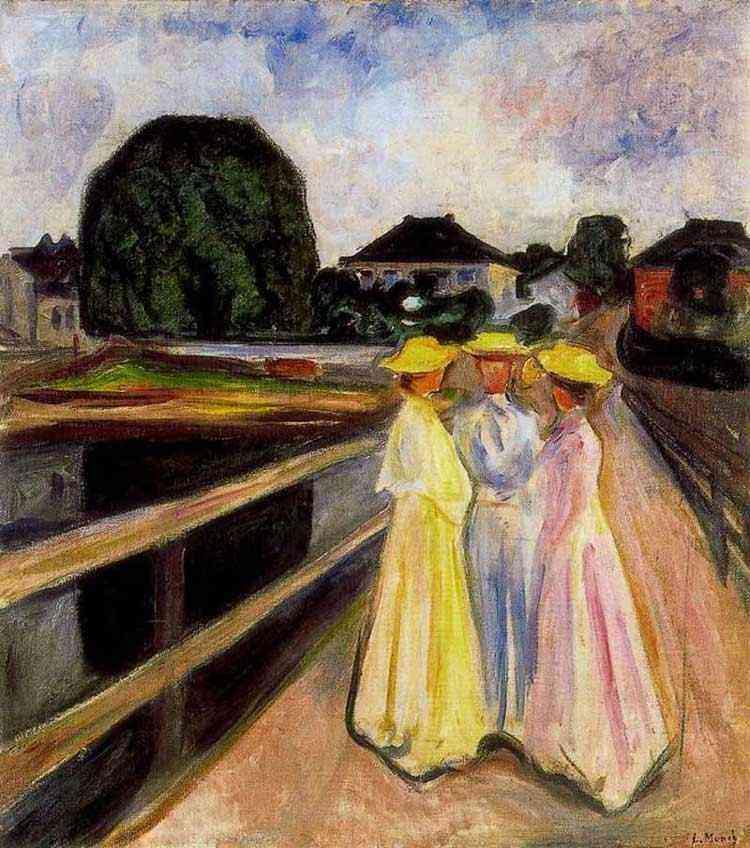 Edvard Munch - Meninas no Jetty