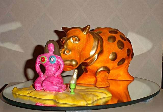 Niki de Saint Phalle - Hipopótamo e Marina