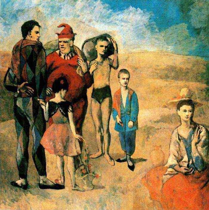 Pablo Ruiz Picasso - A família de saltimbancos (Los titiriteros)