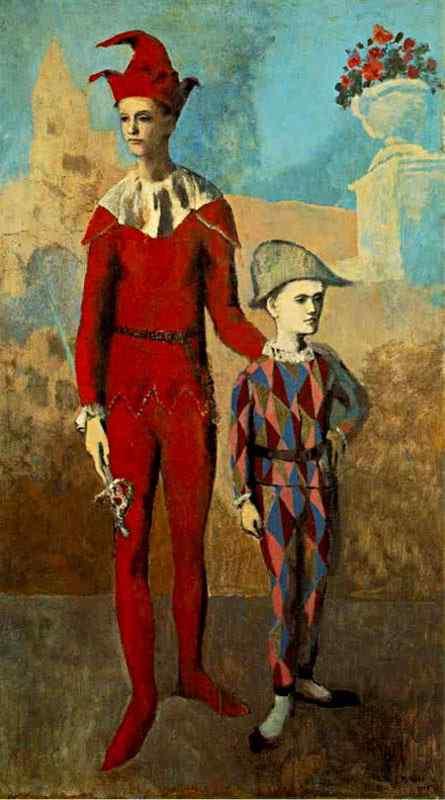 Pablo Ruiz Picasso - Acróbata com Arlequim
