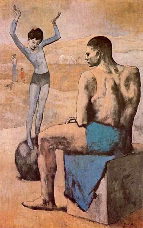 """Pablo Ruiz Picasso - Acróbata com balão (também conhecido como """"Acróbata e jovem equilibrista"""")"""