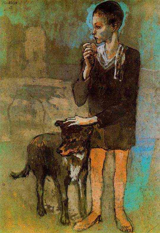 Pablo Ruiz Picasso - Menino com cachorro