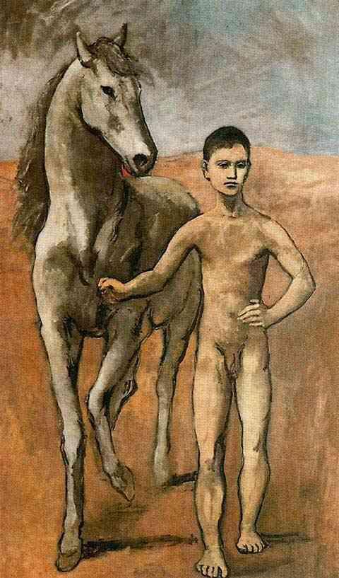 Pablo Ruiz Picasso - Menino levando um cavalo