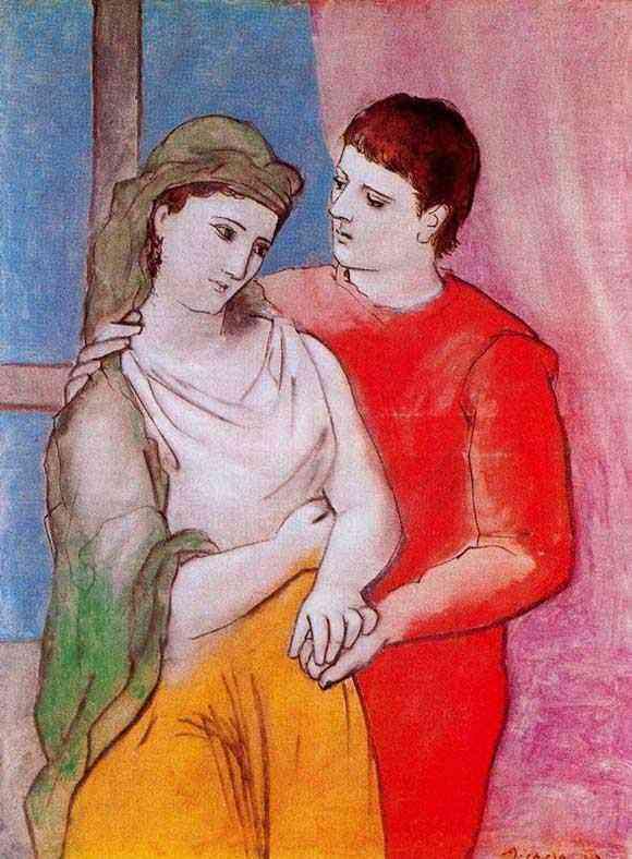 Pablo Ruiz Picasso - Os enamorados
