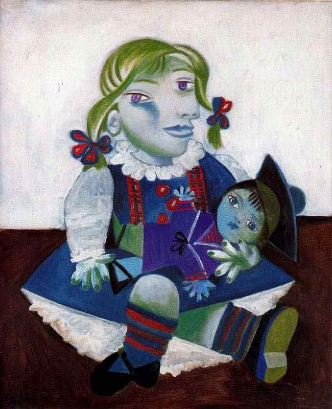 Pablo Ruiz Picasso - Maya com boneca