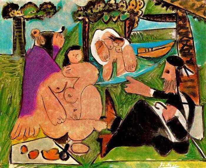 Pablo Ruiz Picasso - Lanche no campo