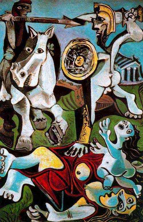 Pablo Ruiz Picasso - O rapto das sabinas