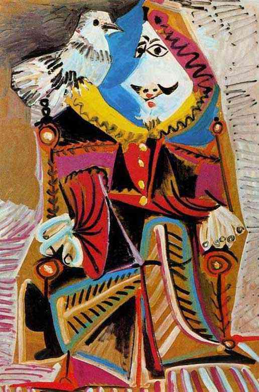 Pablo Ruiz Picasso - Mosqueteiro com pomba