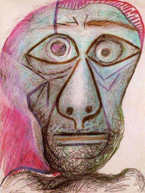 Pablo Ruiz Picasso - Auto-retrato (cabeça)