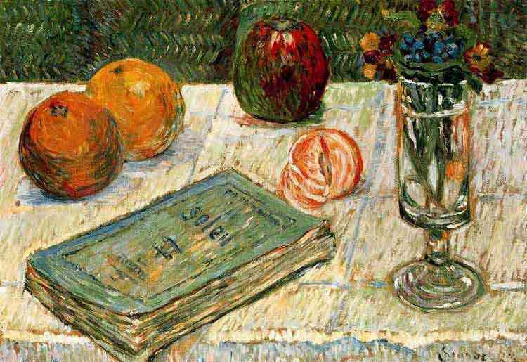 Paul Signac - Natureza morta com um livro