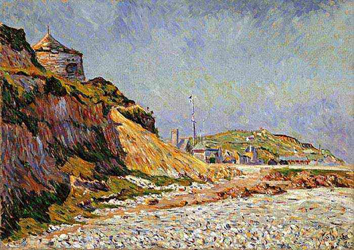 Paul Signac - Port-en-Bessin, a praia