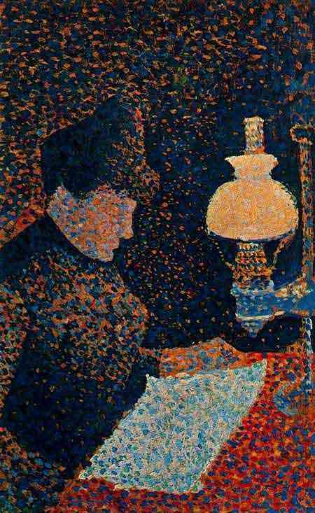 Paul Signac - Mulher sob o lampião