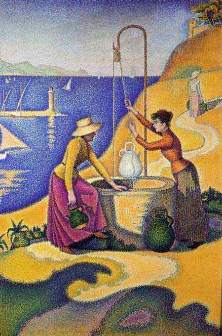 Paul Signac - Mulheres em um poço