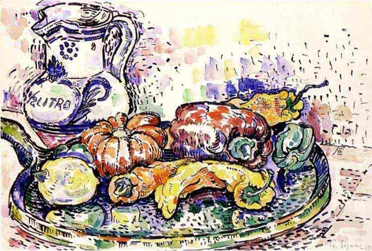 Paul Signac - Natureza morta com jarro