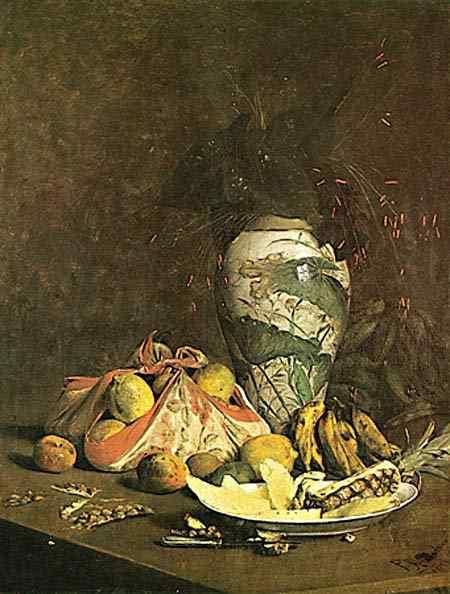 Pedro Alexandrino - Natureza Morta com Vaso e Frutas