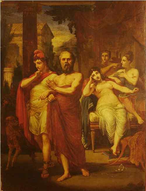 Pedro Américo - Sócrates afastando Alcibíades do vício